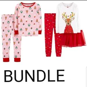 CARTER'S Holiday Pajama set bundle 12M NWT